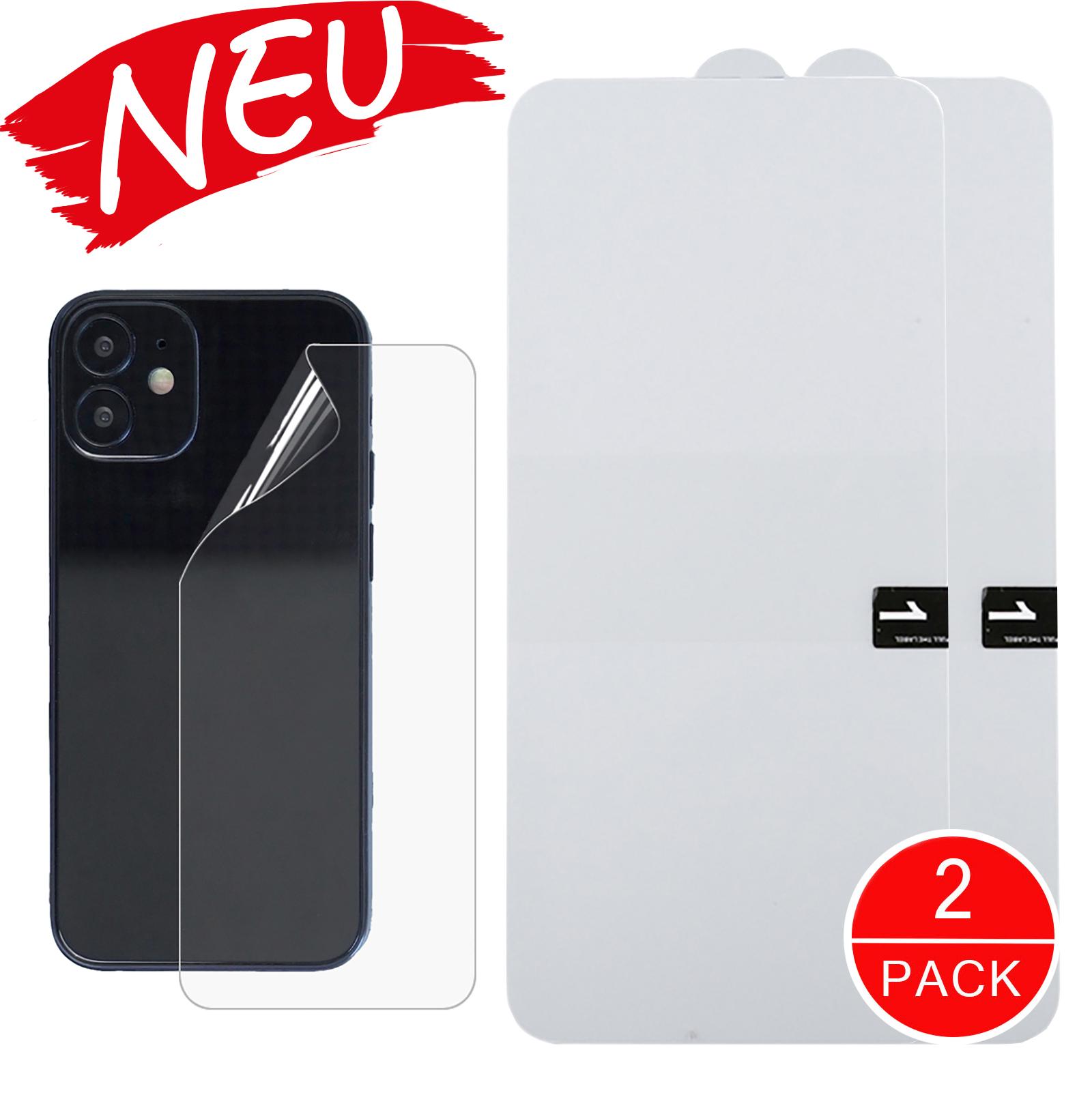 Hydrogel Schutzfolie iPhone 12 / 12 Pro Rückseite