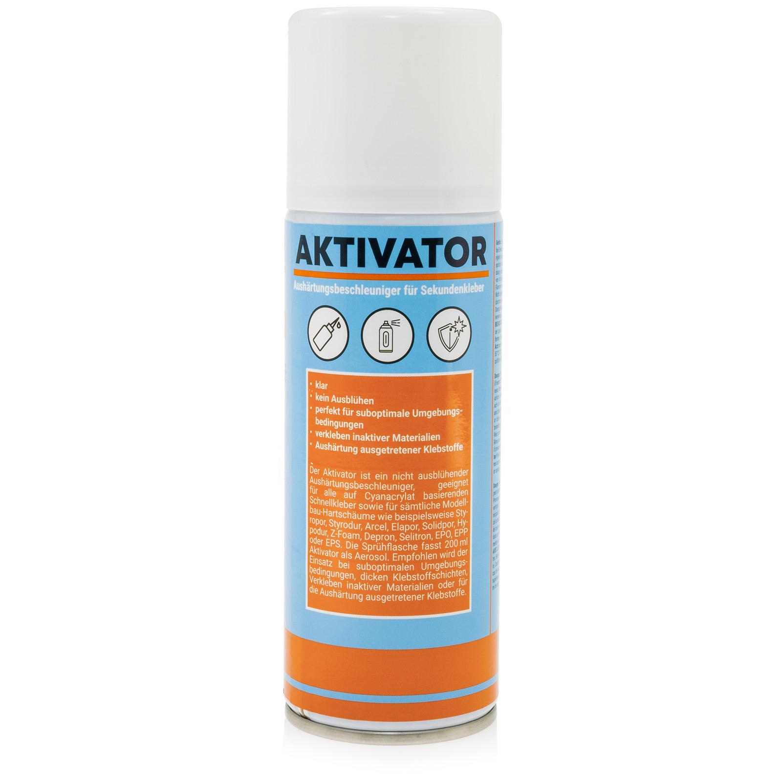 Aktivator Spray Sekundenkleber für Cyanacrylat 200ml Spraydose
