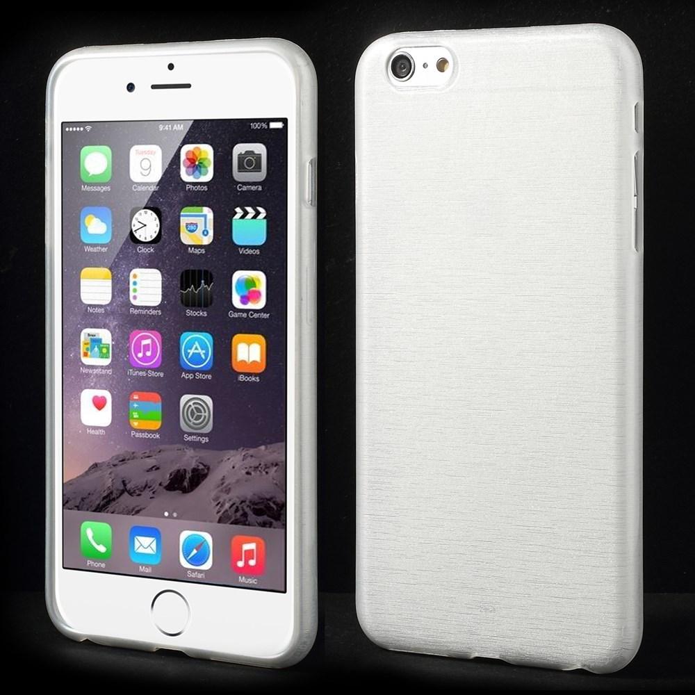 Apple iPhone 6 plus TPU Brushed Schutzhülle in weiss