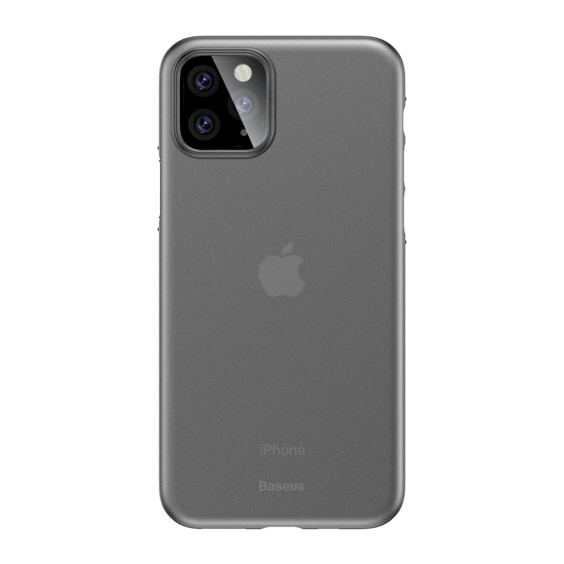 iPhone 11 Pro Max Baseus Wing Ultra-dünne mattierte PP-Hülle (Klarweiß)