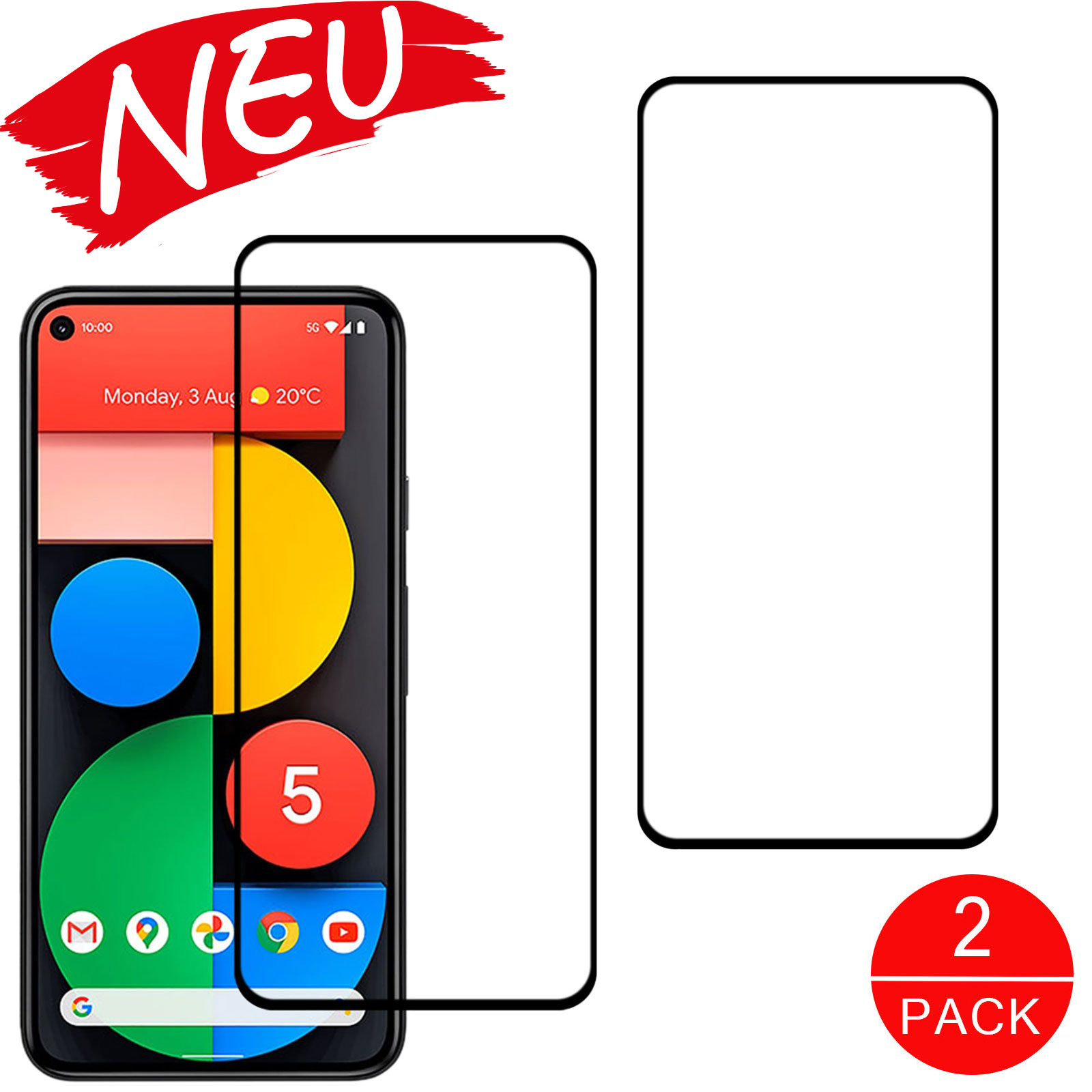 Schutzglas Handy Displayschutz Google Pixel 4a 5G