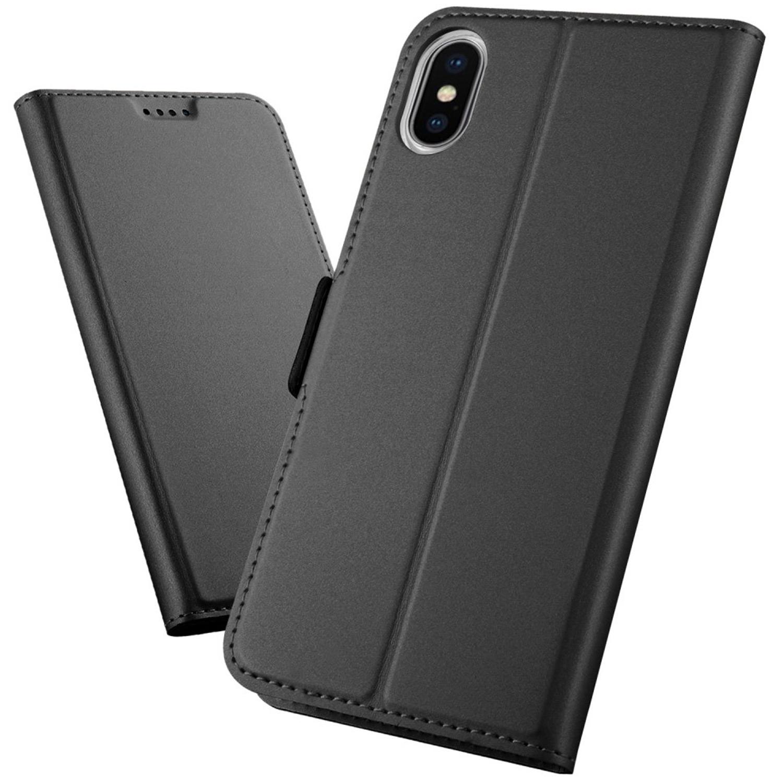 Flip Case Schutzhülle für iPhone Xs Max soft touch - schwarz
