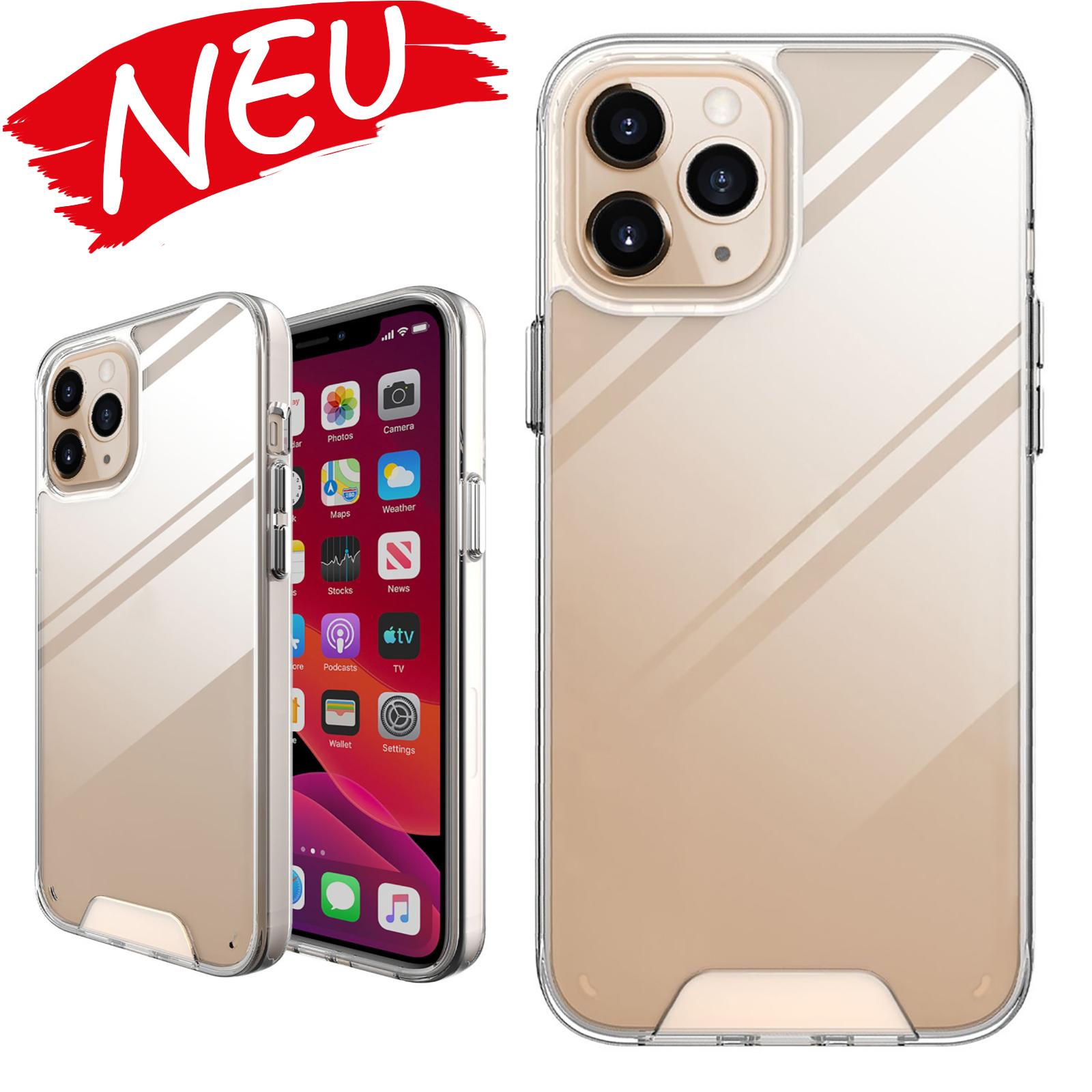 Für iPhone 12 mini Kratzfestes TPU + Acryl Weltraum-Etui Schutzhülle (Transparent)