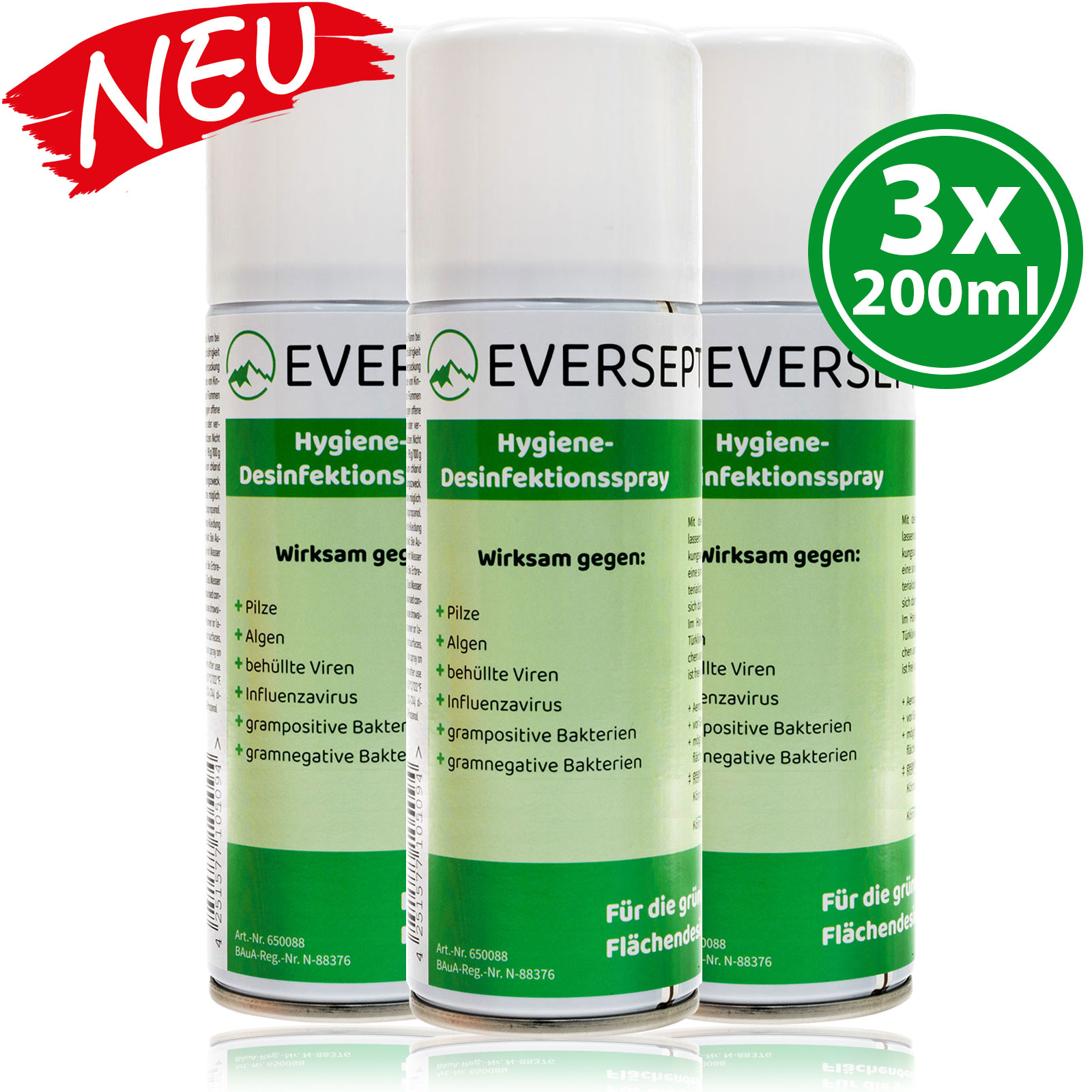 Eversept Hygiene Desinfektionsspray 200ml Aerosol