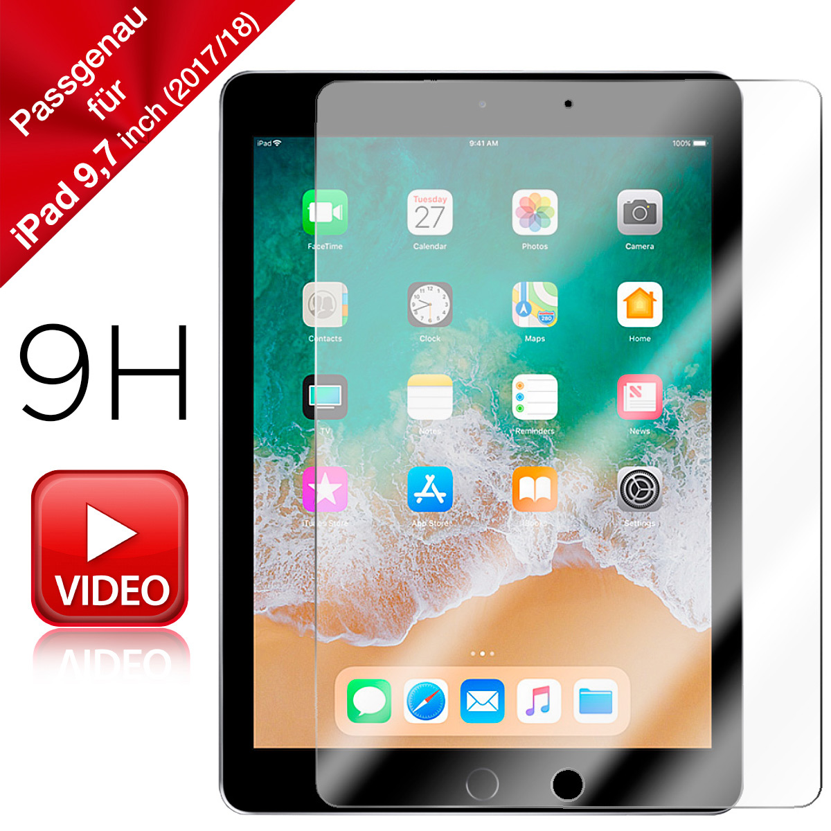 iPad Pro 9,7 Inch Schutzglas (2017/18)