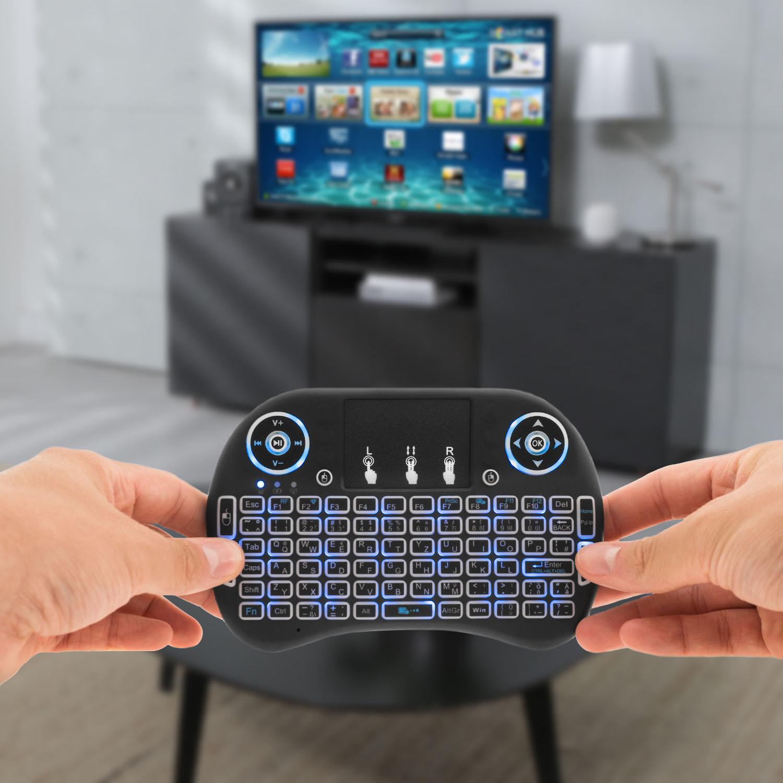 2-4GHz-Funk-Mini-Tastatur-Wireless-Keyboard-Touchpad-TV und Mediengeräte