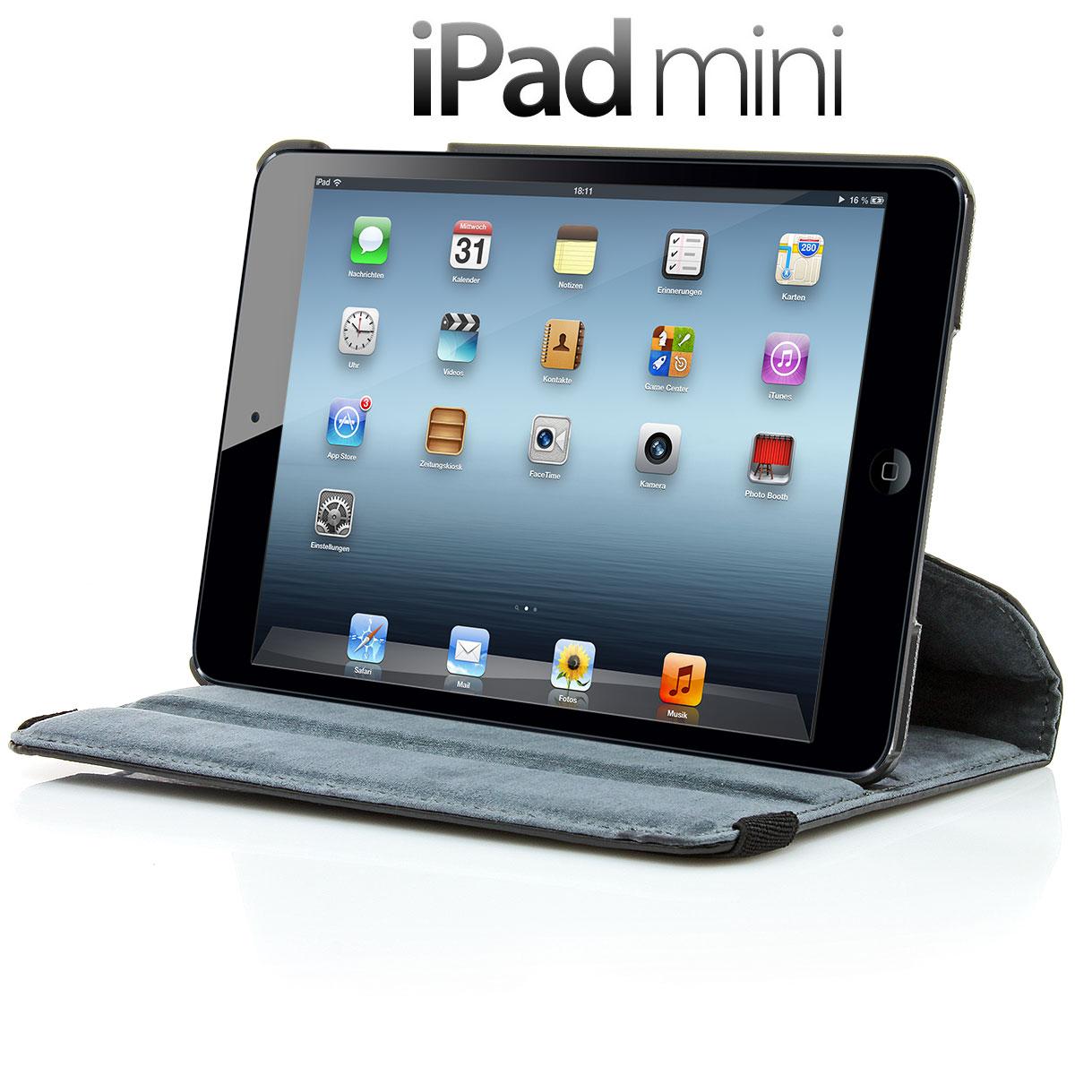 XAiOX iPad Mini Tasche 360° drehbar - schwarz