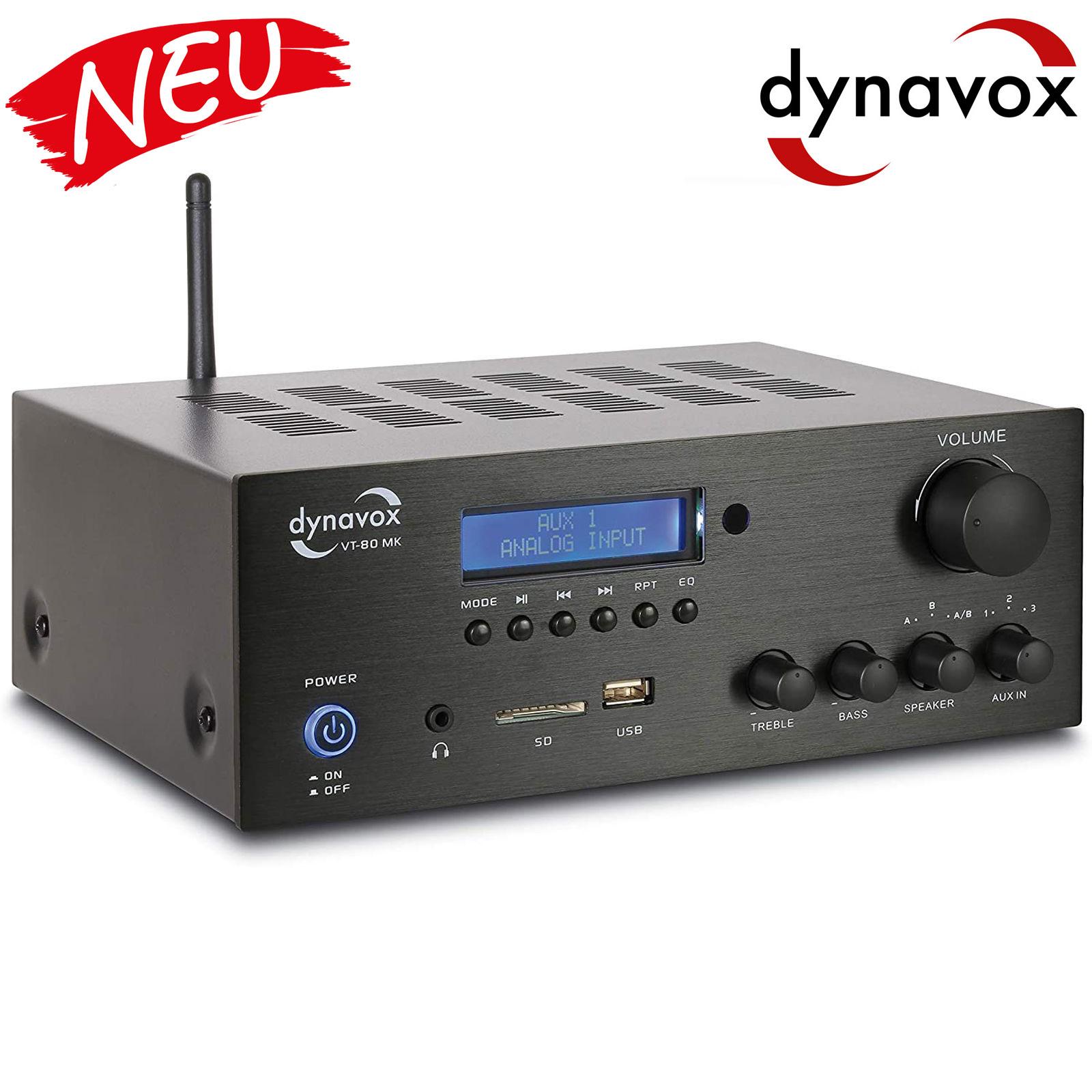 Dynavox Stereo Kompakt-Verstärker VT-80 MK schwarz