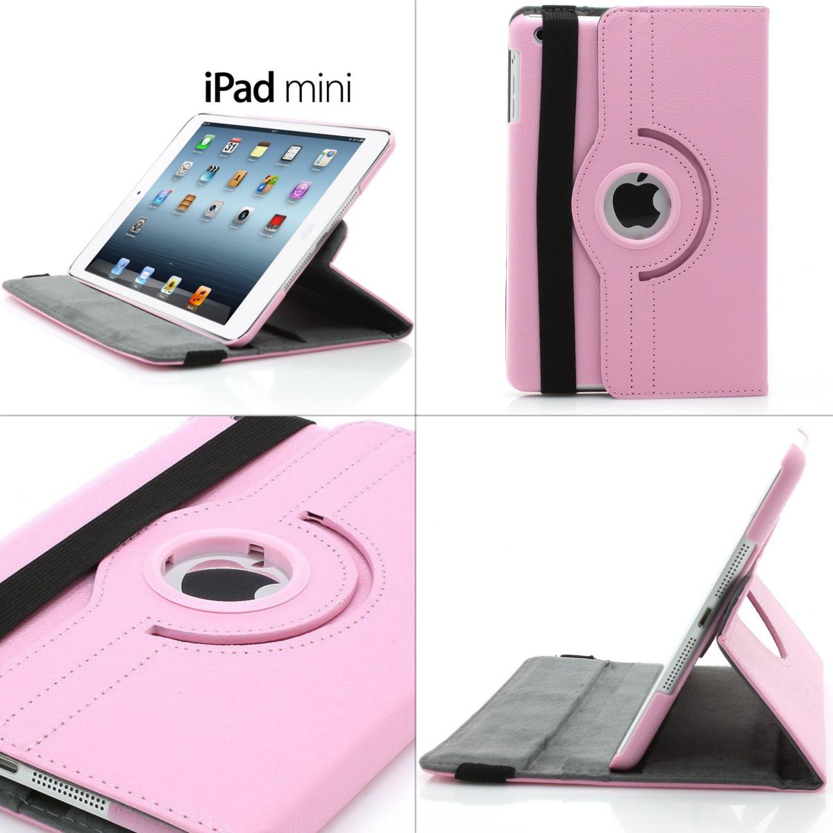 XAiOX iPad Mini Kunstledertasche 360° drehbar - rosa