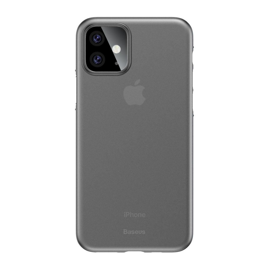 iPhone 11 Baseus Wing Ultra-dünne mattierte PP-Hülle (Clear White)