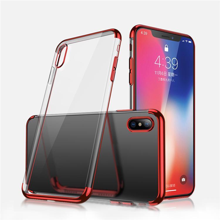 Apple iPhone Xs Max Premium Design TPU Schutzhülle – rot