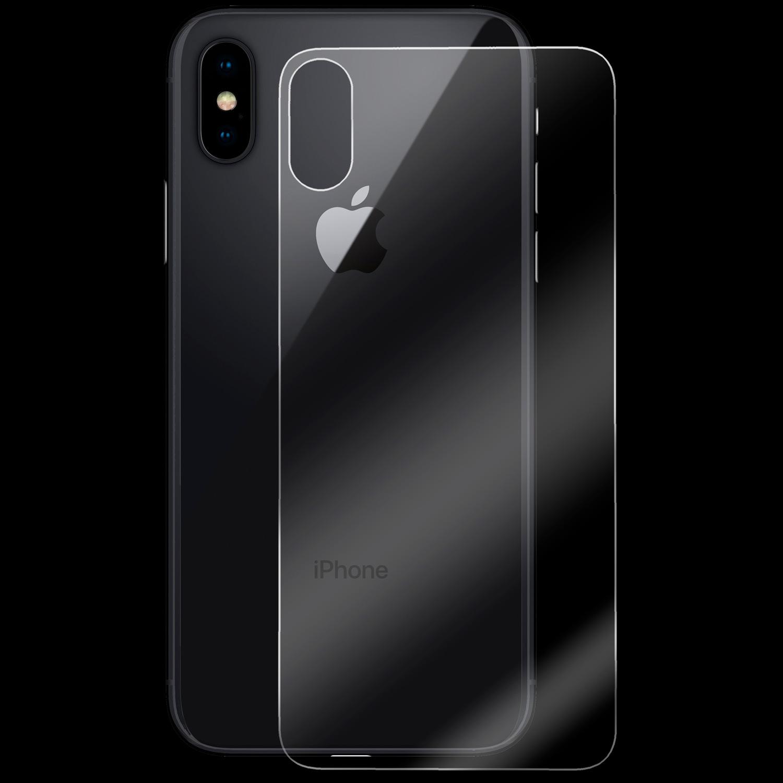 iPhone X Schutzglas Backcover Rückseite 9H Schutzfolie