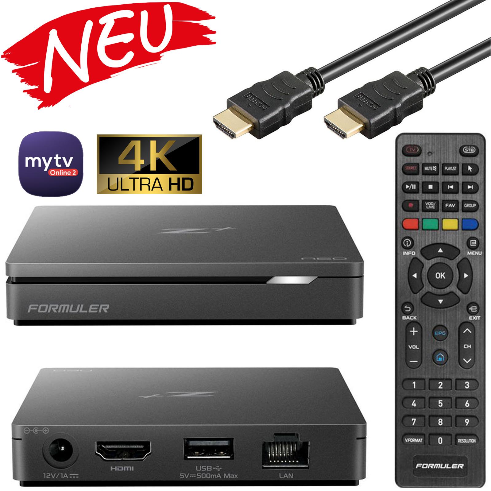 Formuler Z+ Neo 5G IPTV Box Android 7 Media Player TV IP Receiver, H.265 HEVC Kodi WIFI Stalker inkl. HDMI Kabel