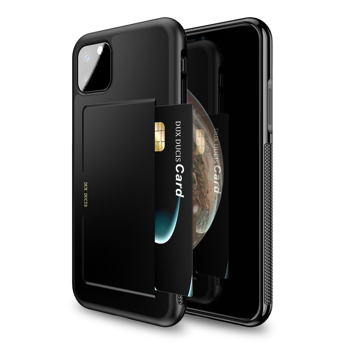 iPhone 11 Pro DUX DUCIS Pocard Series Stoßfeste Rückentasche mit Halter & Kartenfächern (Schwarz)