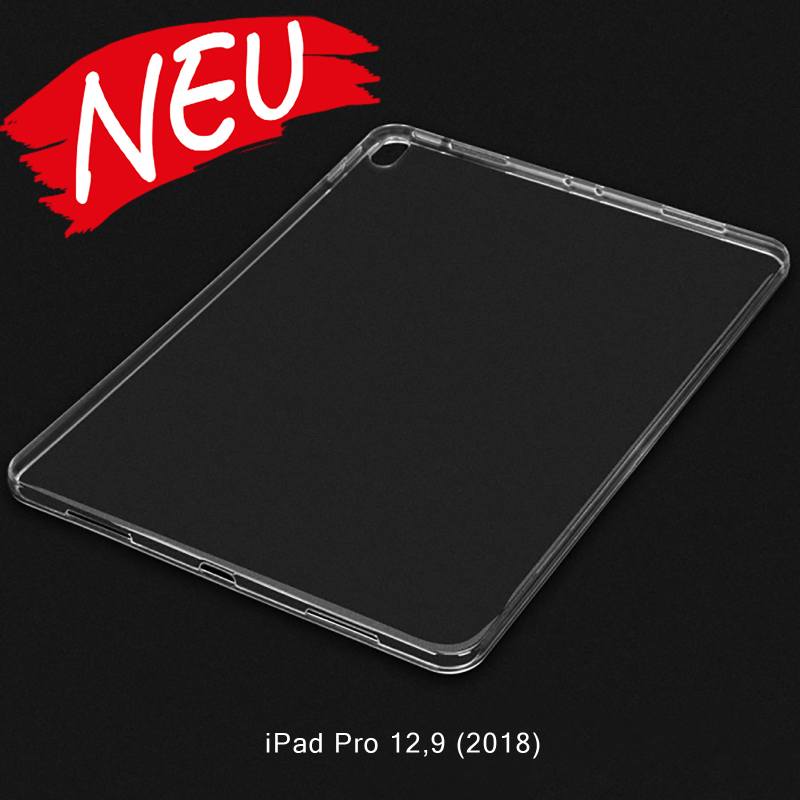 iPad Pro 12,9 (2018) Slim dünne TPU Gel Hülle - Transparent