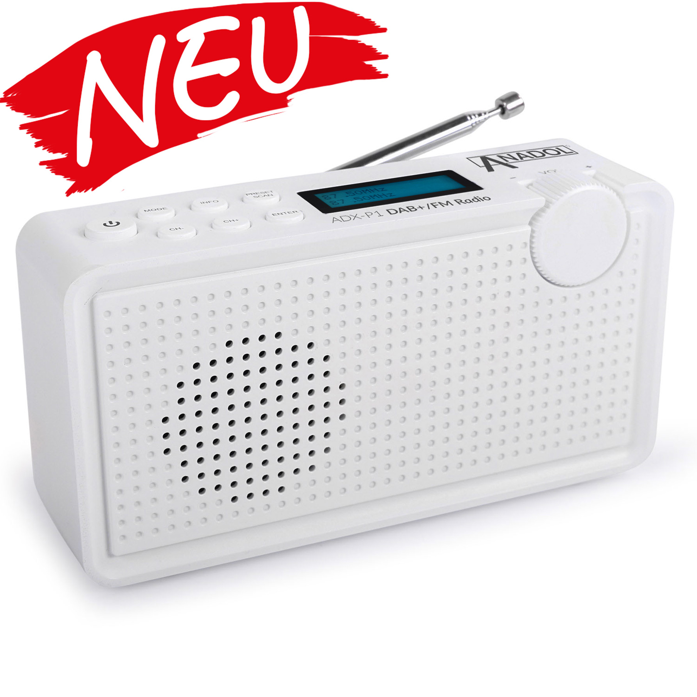 Anadol ADX-P1 DAB/DAB+/UKW/FM Radio - 20 Senderspeicherplätze - schwarz