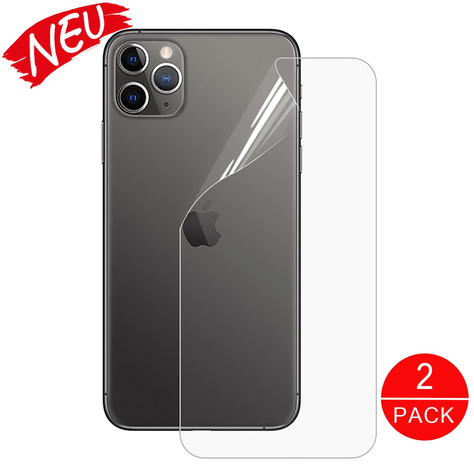 Hydrogel Schutzfolie Handy Rückseite Backcover iPhone11 Pro