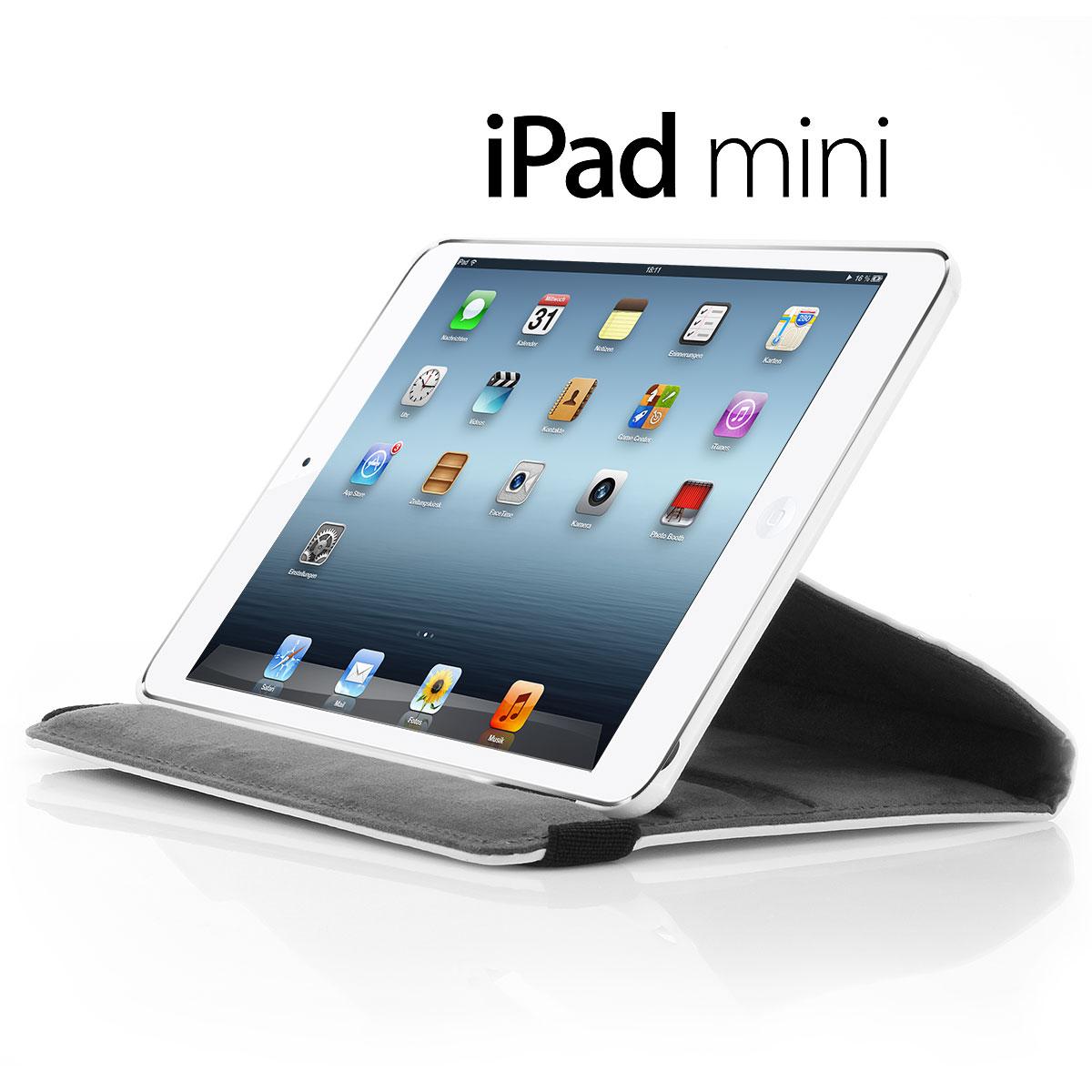 XAiOX iPad Mini Kunstledertasche 360° drehbar - weiss