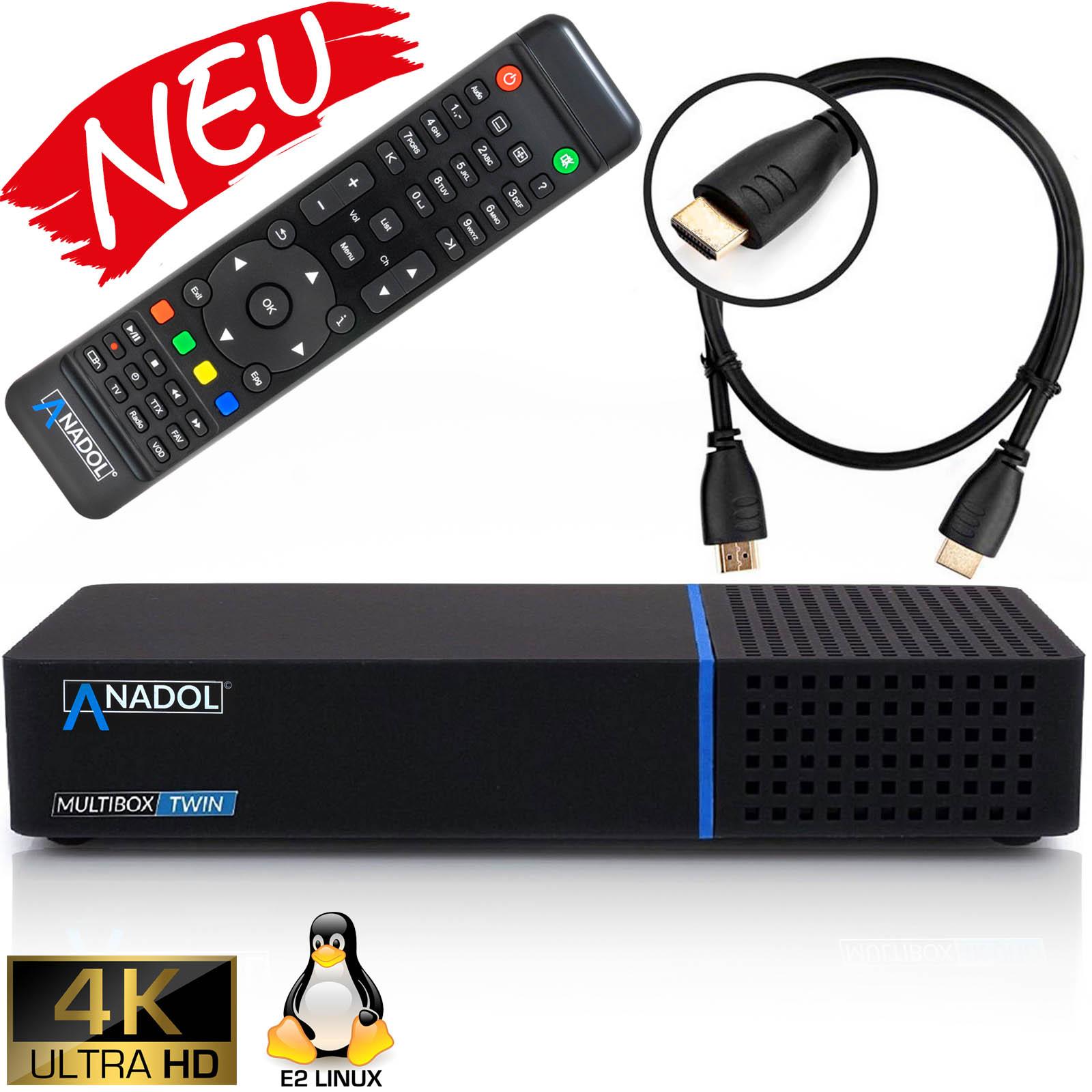 Anadol Multibox Twin  4K UHD E2 Linux Twin Sat-Receiver