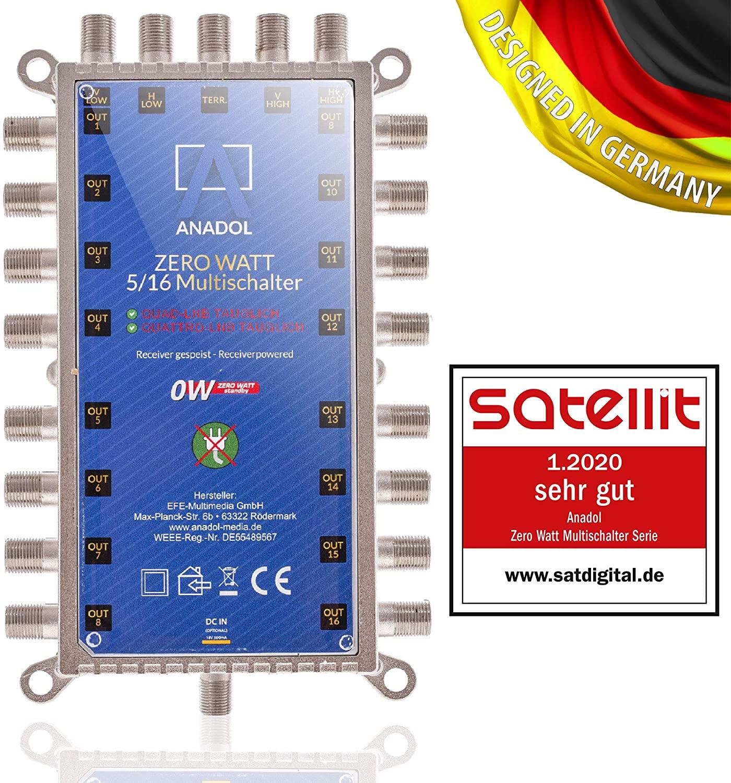 Anadol Zero Watt 5/16 Multischalter
