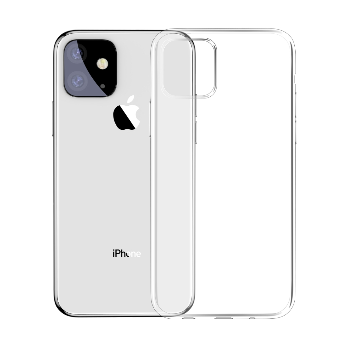 iPhone 11 Baseus Simple Series Transparent TPU Hülle (Transparent)