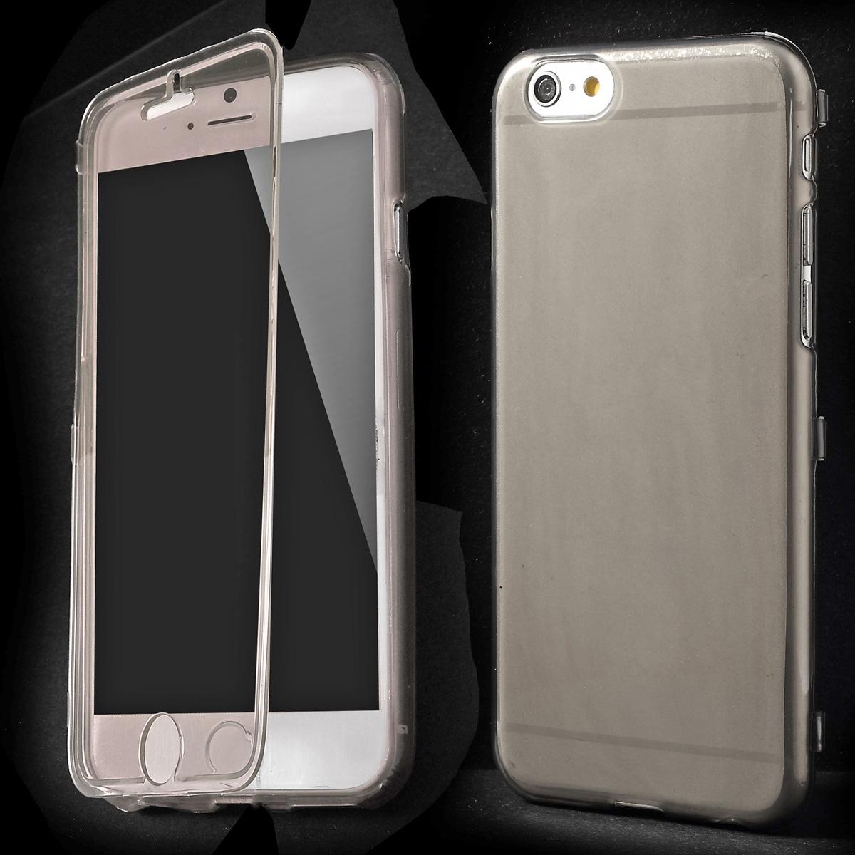 iPhone 6 TPU Hülle mit Klappe - grau