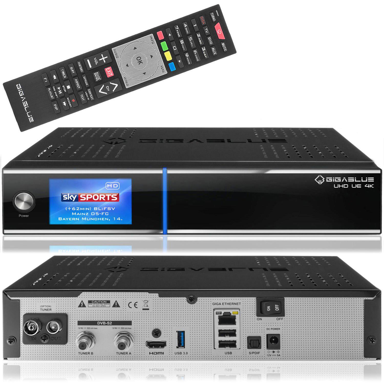 Gigablue UHD UE 4K 1xDVB-C2 & 2xDVB-S2
