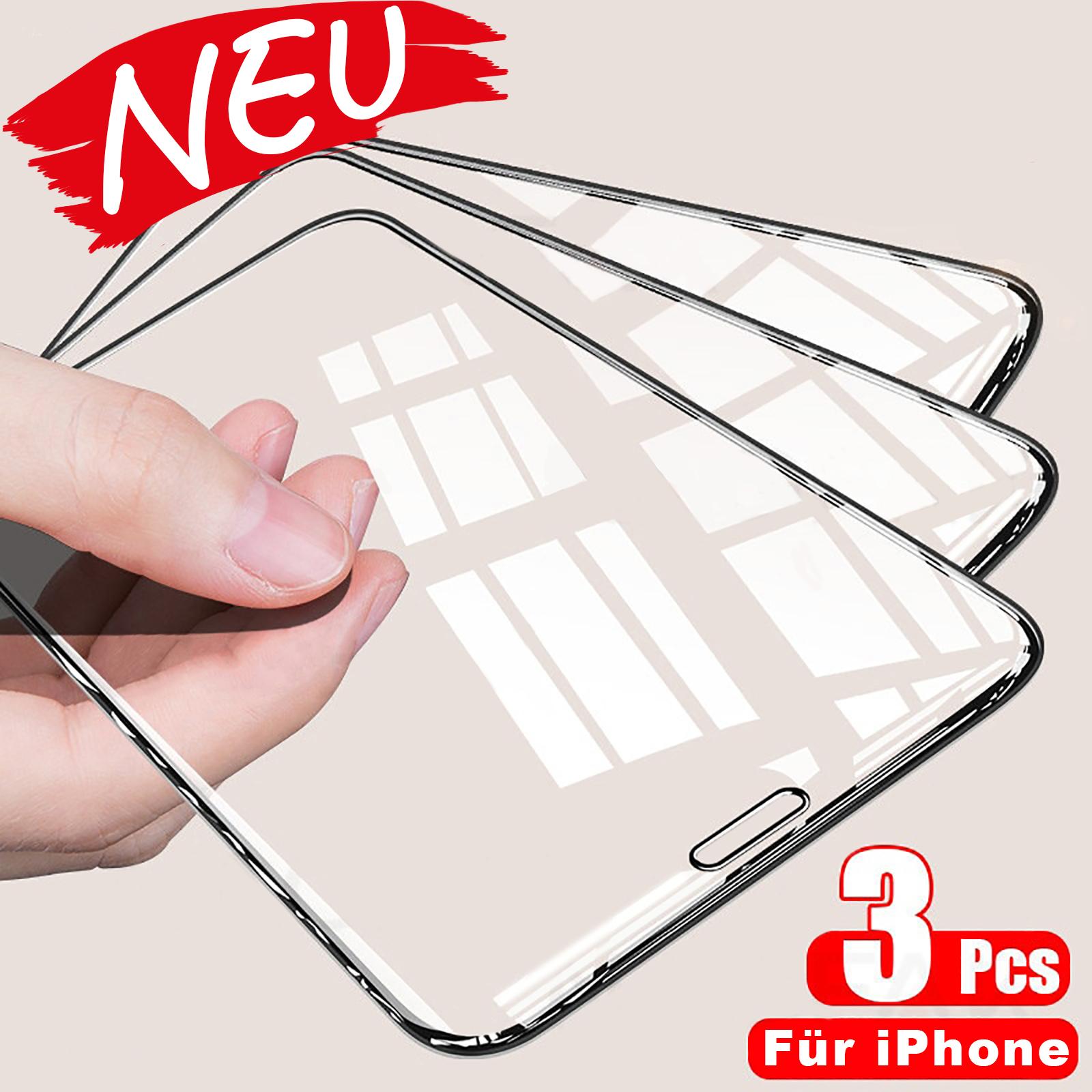 Apple iPhone 12 / 12 Pro  - 3D 0.26mm 9H Schutzglas aus echt Glas mit schwarzem Rand