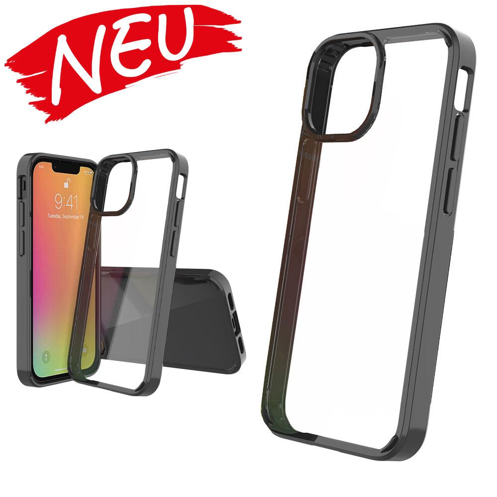 Für iPhone 13 mini / iPhone 13 / iPhone 13 Pro / iPhone 13 Pro Max Kratzfestes TPU-Etui Schutzhülle (Transparent schwarz )