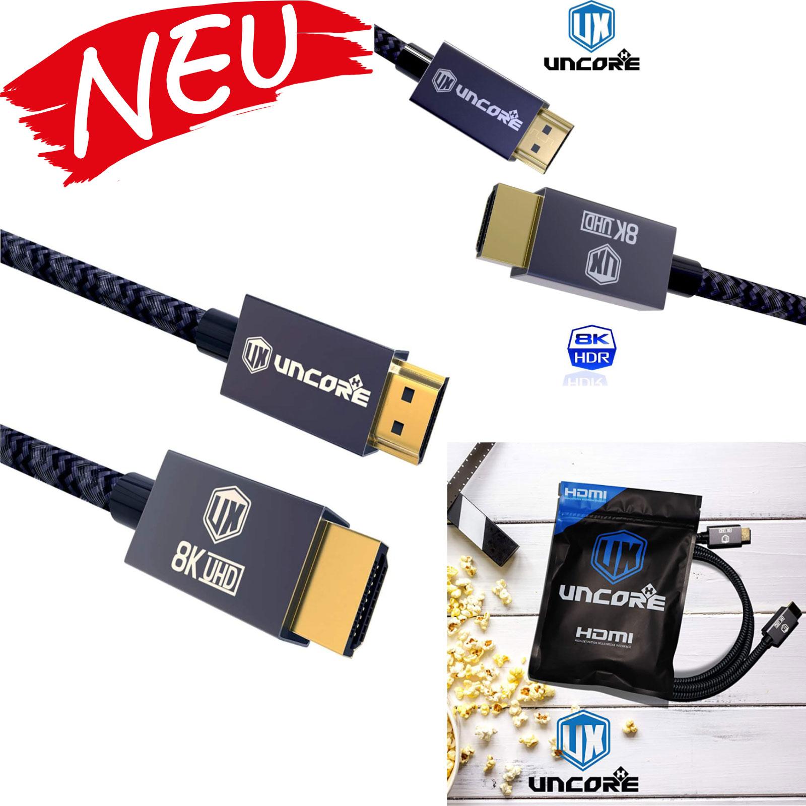 Uncorex Ultra HDTV 8K HDMI Kabel 1,5 schwarz
