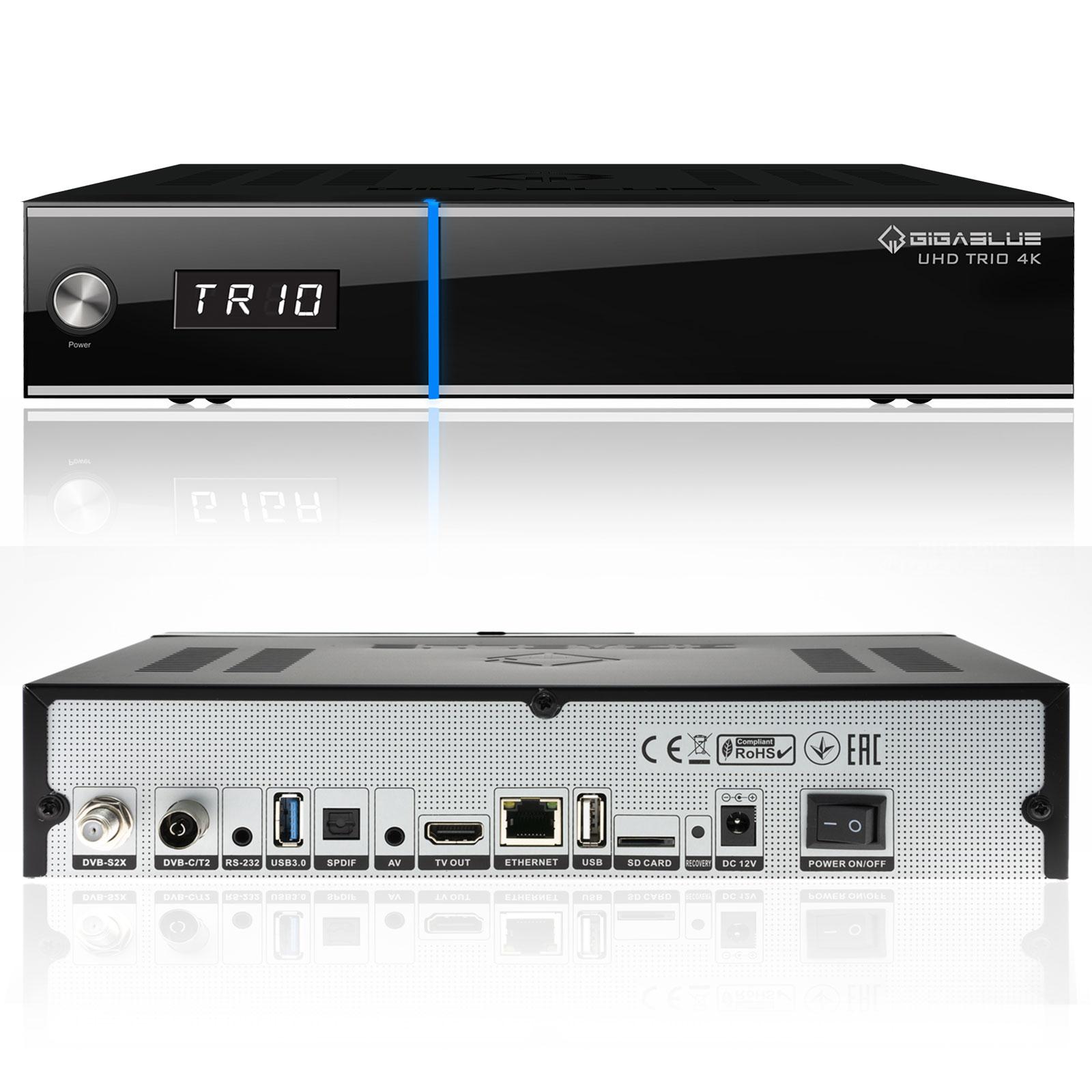 Gigablue UHD Trio 4K Box SAT-Receiver DVB-S2x DVB-C2 DVB-T2