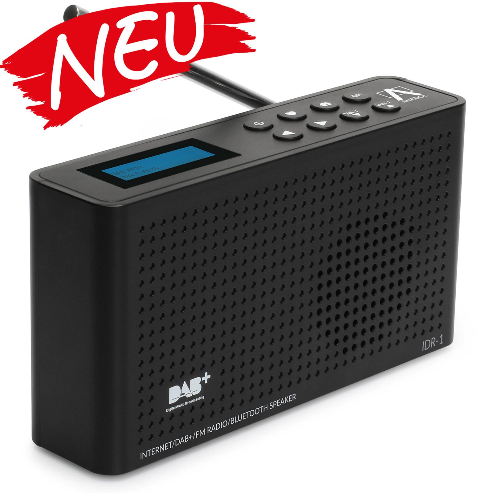 Anadol IDR-1 Internet Radio / DAB+ / FM-UKW / Bluetooth Lautsprecher WLAN - schwarz