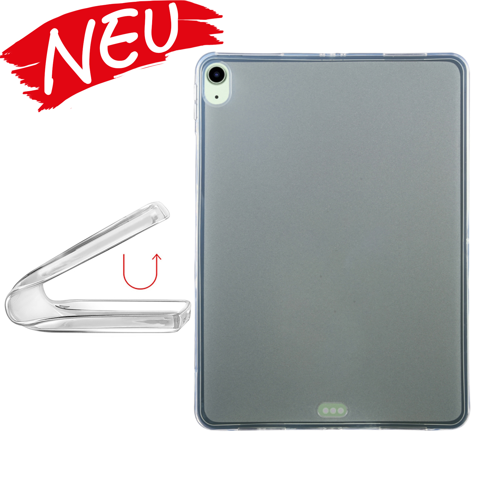 iPad 10,9Slim dünne TPU Gel Hülle - Transparent