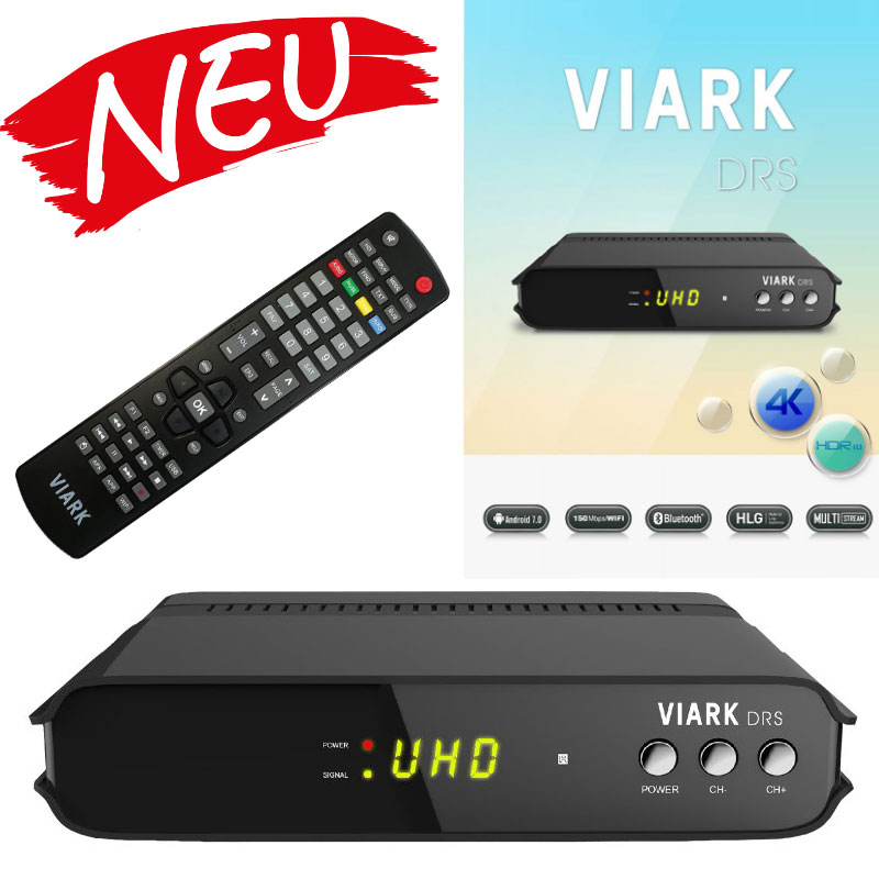 Viark DROI 4K digitaler Combo Android 7.0 Wifi Sat-Receiver DVB-S2 / DVB-C/T2