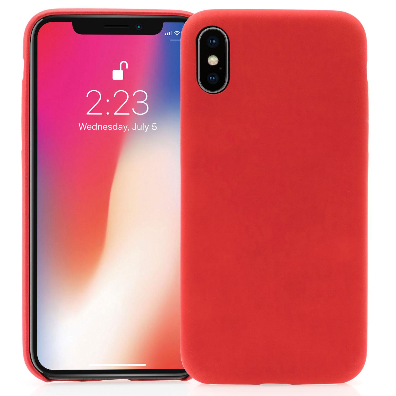 Farbveränderungs Hülle TPU Silikon Case - iPhone X - rot