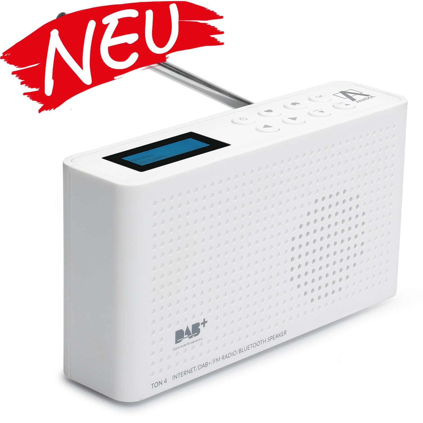 Anadol IDR-1 Internet Radio / DAB+ / FM-UKW / Bluetooth Lautsprecher WLAN - weiß