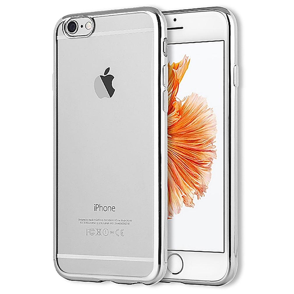 GR5R + BG7R - iPhone 6/6s Plus Premium Schutzhülle silber + Schutzglas
