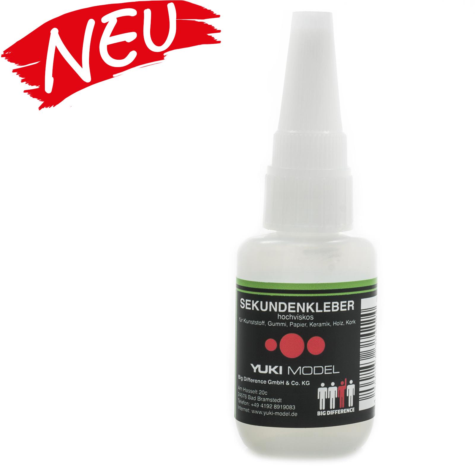 Sekundenkleber Cyanacrylat Superkleber 20g UV Protect Flasche dickflüssig wasserfest schnell trocken