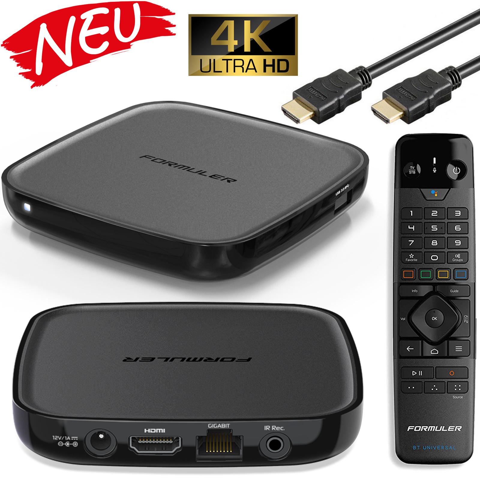 Formuler GTV 5G 4K IPTV Android 9 Player H.265 2GB RAM 16GB Flash WLAN 5GHz Wifi