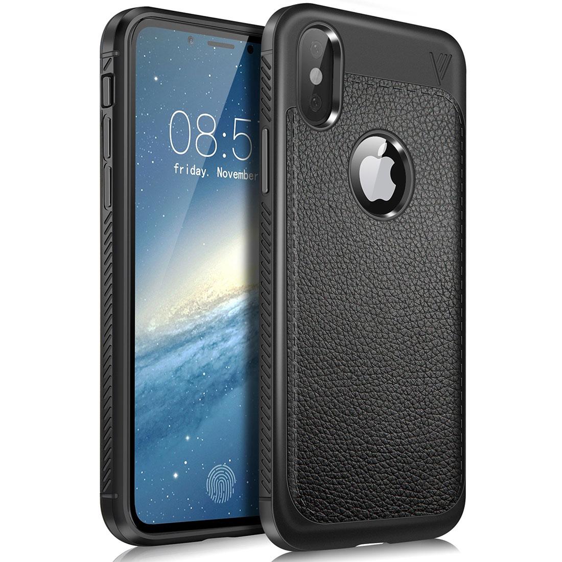iPhone X Case Silikon TPU Schutzhülle - schwarz